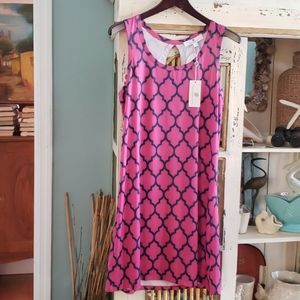 NWT PINK & NAVY SUNDRESS BY JEAN PIERRE KLIFA